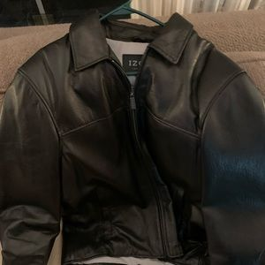 Men's Izod Leather Coat -Size Large